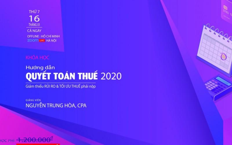 Kiểm soát Rủi ro – Quyết toán Thuế 2020